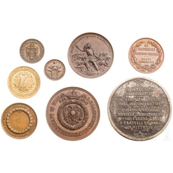 Eight medals, Italy and Austria, 19th century