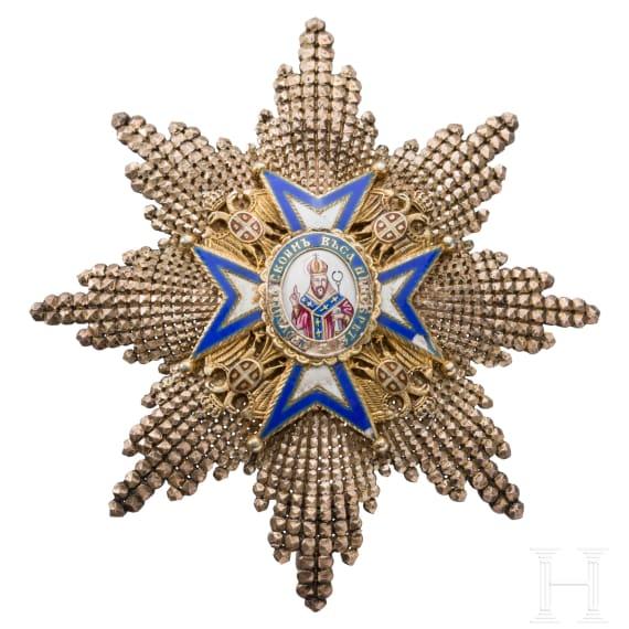 Serbien - St. Sava-Orden - brillantierter Bruststern zum Großoffizier