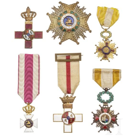 Six awards, 20th century