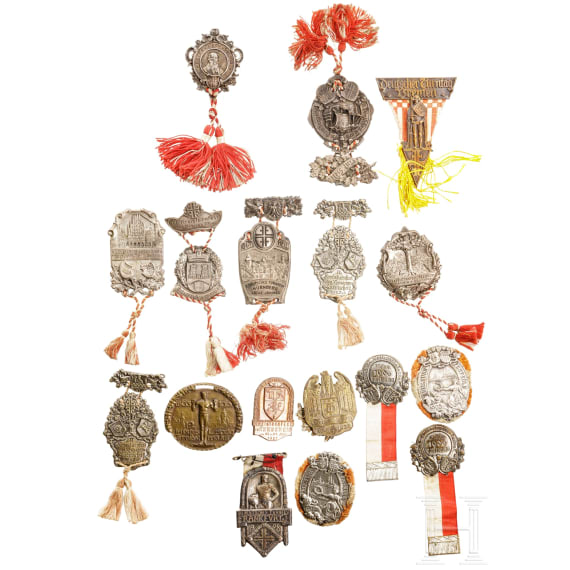 Sammlung 18 Turnerabzeichen, 1898 - 1928