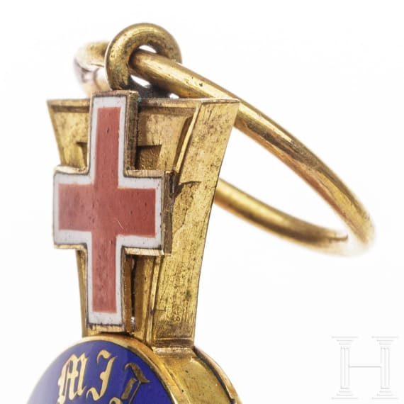 Prussia - a Royal Crown Order 4th Class with Geneva Cross 1872 - 1874
