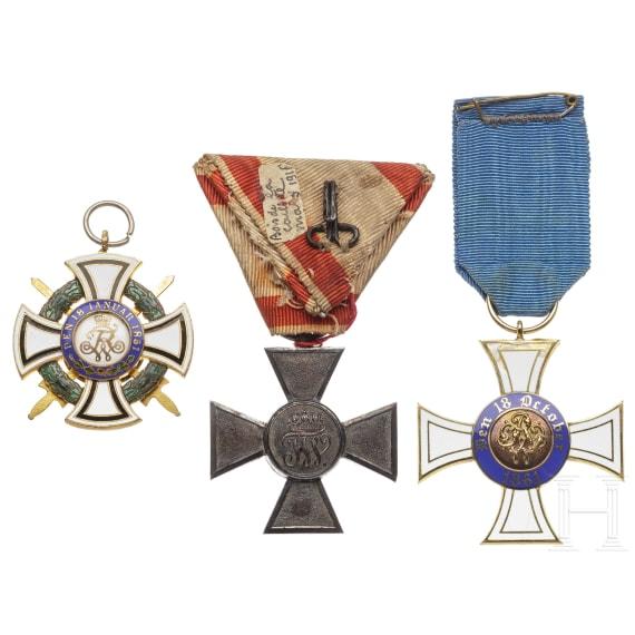 Three awards, 19th/20th century