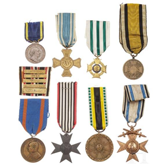 Nine awards, 19th/20th century