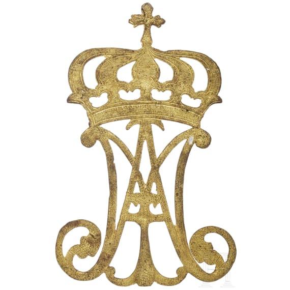 Adels-Chiffre mit Krone der französischen Könige, Frankreich, um 1780
