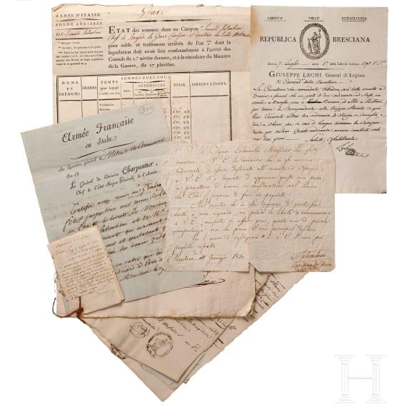 Armée d'Italie - Abrechnungsunterlagen Salimbeni u.a.