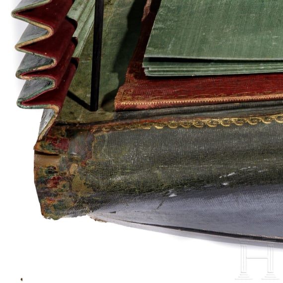 A representative Leather Portfolio of Louis François Legrand, Secretary General of the Imperial Mail, 1804 - 1815