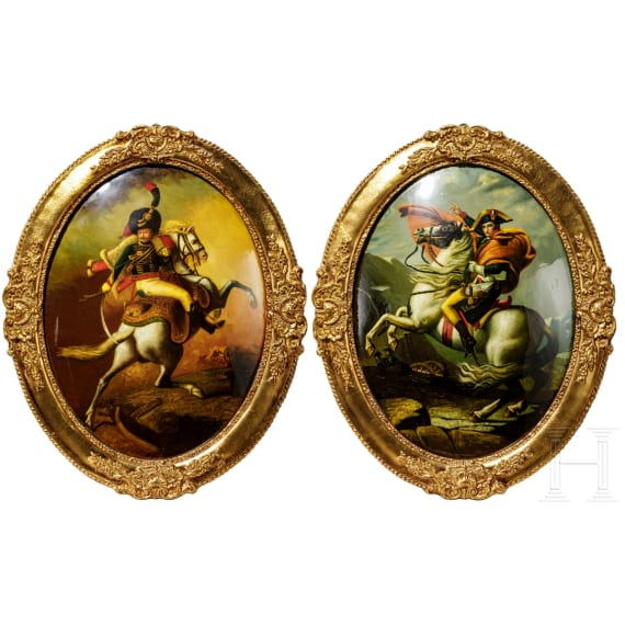 Two French paintings, 19th century