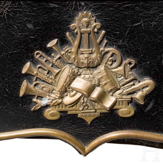 A cartouche box for military musicians, mid-19th century