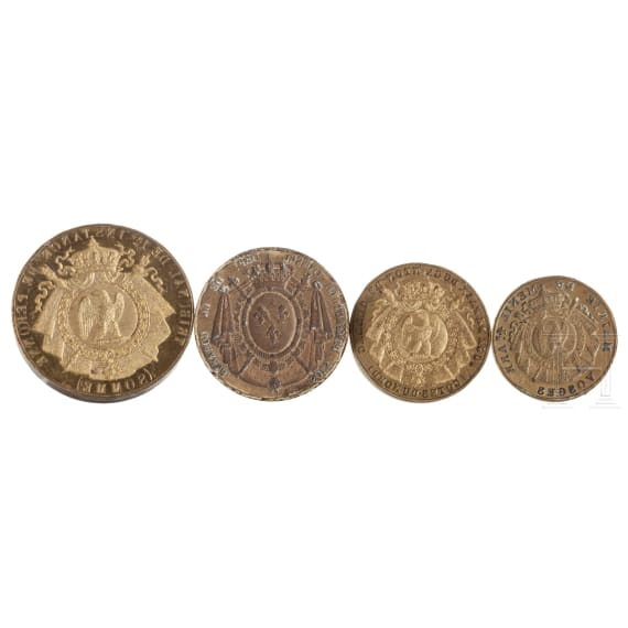 Four French official seals, 19th century