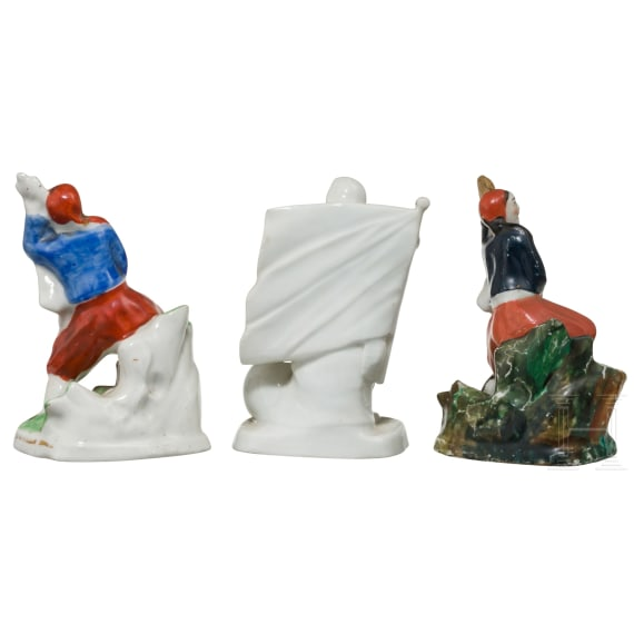 A collection of patriotic inkwells, early 20th century