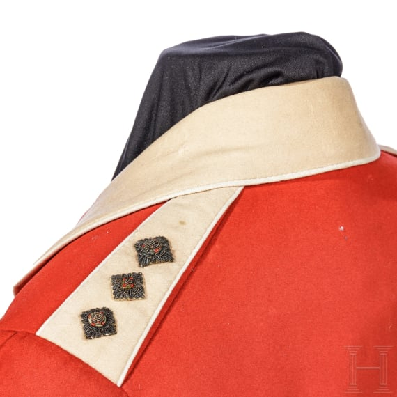 A mess dress uniform for a captain, circa 1900