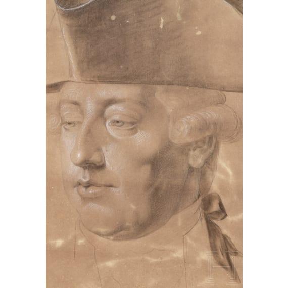 Emperor Joseph II - a portrait drawing, circa 1780