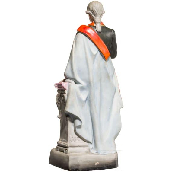 Emperor Joseph II - coloured ceramic figure