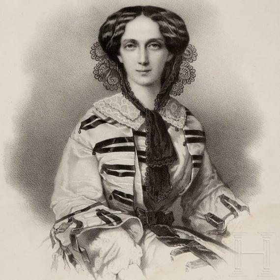 A portrait of the Tsarina Maria Alexandrovna, mid-19th century