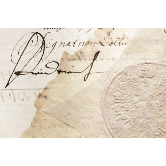 Elector Friedrich III of Brandenburg, Duke of Prussia - an autograph, dated 3.11.1698