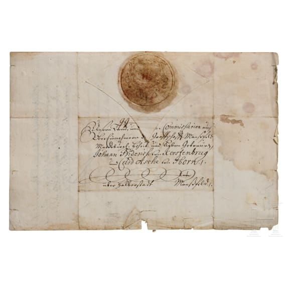 King Friedrich I of Prussia - an autograph, dated 15.12.1703