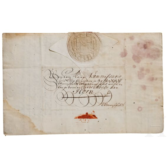 King Friedrich I of Prussia - an autograph, dated 16.12.1712