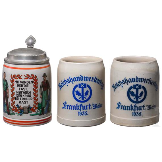 Drei Krüge Windenmacher und Reichshandwerkertag