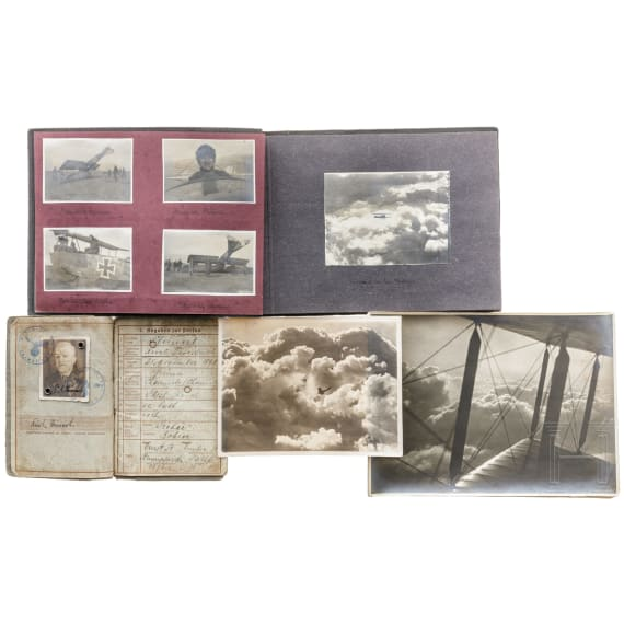 A photo album of a German aviation department in World War I