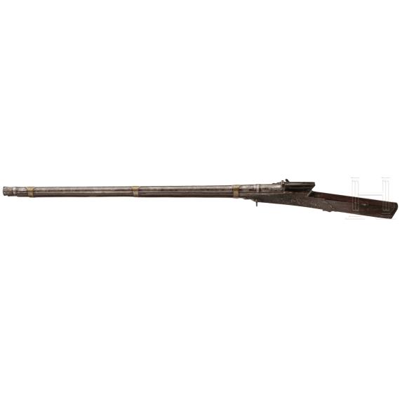 Schweres Luntenschlossgewehr, Indien, 19. Jhdt.