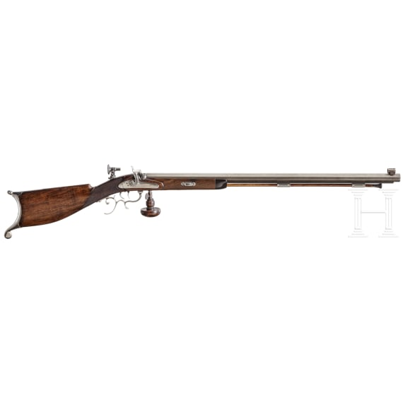 A target rifle, collector's replica in 1850ies style