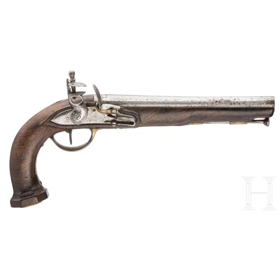Steinschlosspistole aus der Zeit der französischen Revolution, um 1790