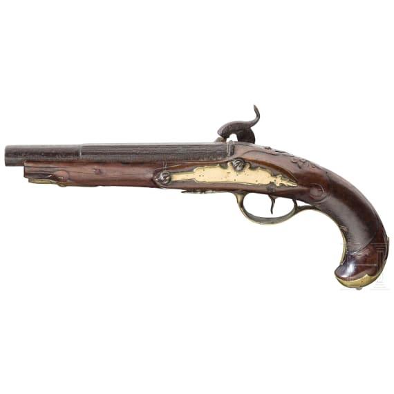 Percussion pistole, Germany, ca. 1760