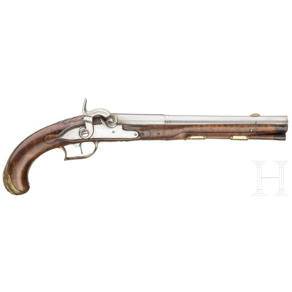A German pewrcussionpistol, ca. 1760