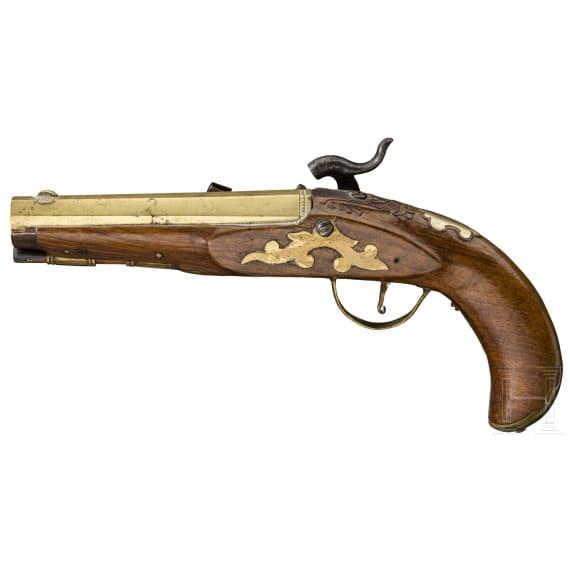 Percussion pistole, France, ca. 1760