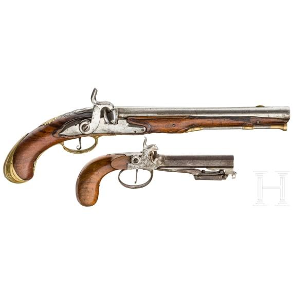 Perkussionspistole, Frankreich, um 1760