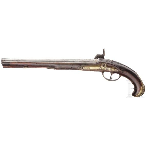 Perkussionspistole, Daniel Thiermay in Paris, um 1760