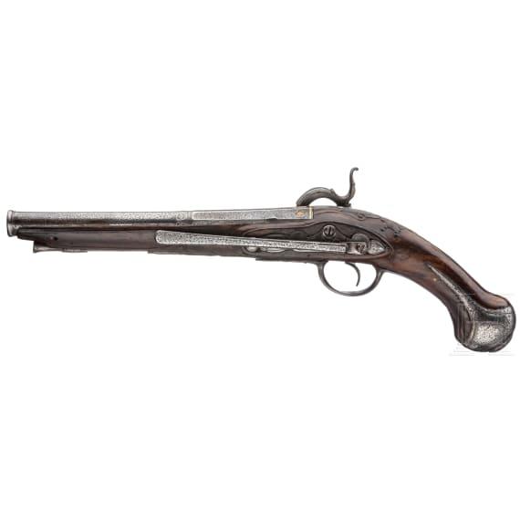A percussion pistol, Spain, circa 1790
