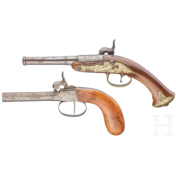 Zwei Perkussionspistolen, 18./19. Jhdt.
