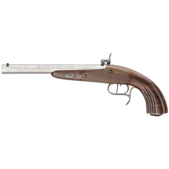 Perkussionspistole, Sammleranfertigung von Armi Sport im Stil des 19. Jhdts.