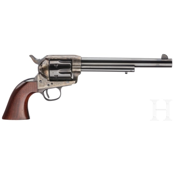 Colt SAA, US Army model, italian replica by Hege-Uberti, with a western-style holster