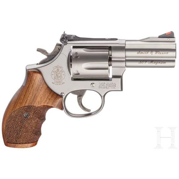 """Smith & Wesson Mod. 686-4, """"The .357 Distinguished Combat Magnum Stainless"""" - Security Special, im Koffer"""