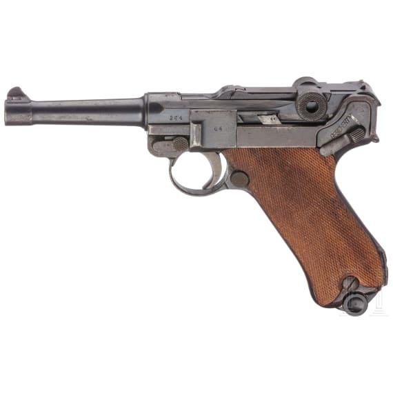 A Luger 08 by DWM, Weimar alphabet, 1921