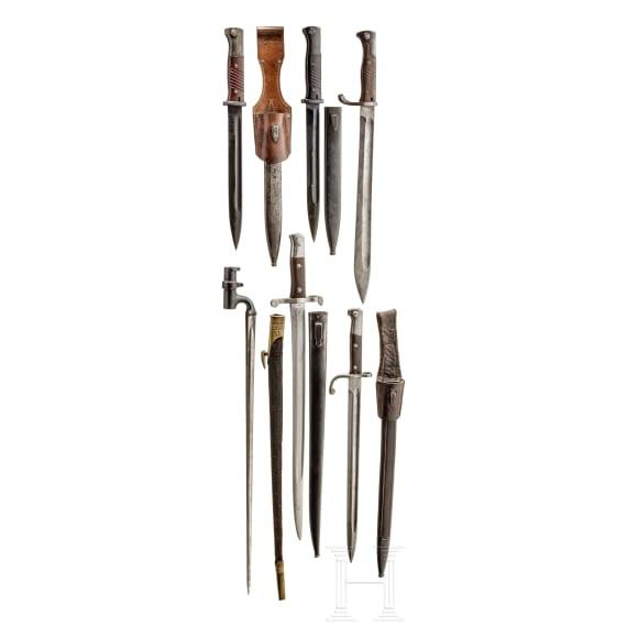 Mixed lot of six bayonets (European)