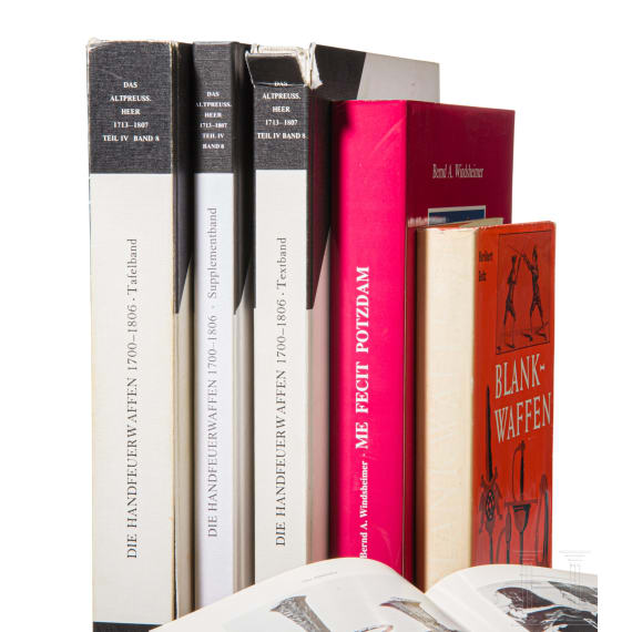 Six reference books on Old Prussian armament