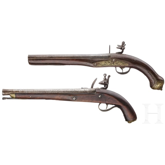 Two Ottoman flintlock pistols from the Balkans, 19th century