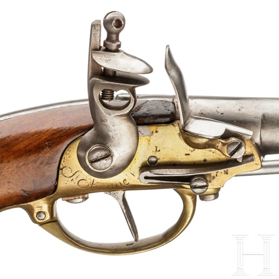 A French M 1777 cavalry pistol, 1st model