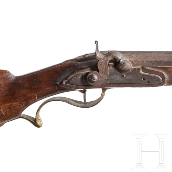 A Netherlands ranger rifle, 18th/19th century