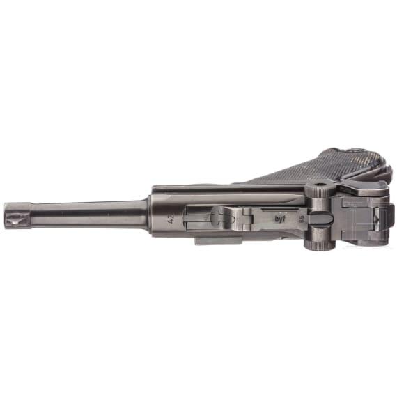"""Pistole 08, Mauser, Code """"42 - byf"""", M/942, mit Tasche"""
