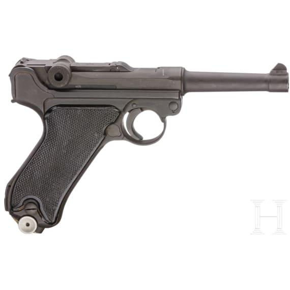 """Pistole 08, Mauser, Code """"42 - byf"""", M/942"""