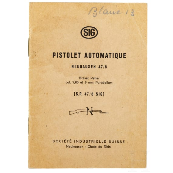 Original swiss manual for the SIG 47/8 pistol (in French)